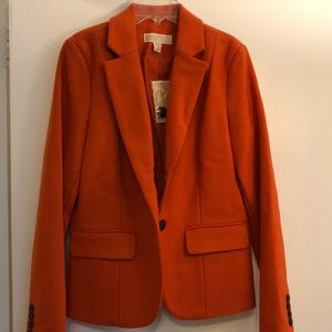 Michael Kors Orange Blazer Size 6 (brand new!)